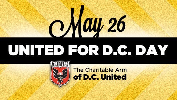 Going to the D.C. United match tomorrow? Get there early and take some throws at me in the dunk tank for charity.