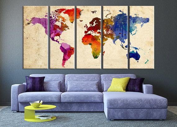 Purple blue world map canvas art print large by extralargewallart purple blue world map canvas art print large by extralargewallart gumiabroncs Choice Image