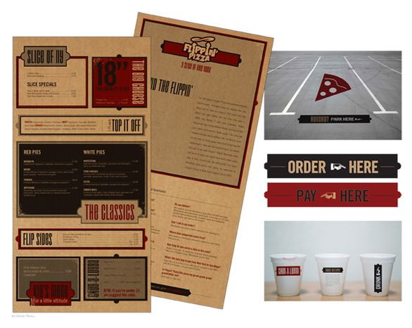 01 retro pizza menu design in menu - Restaurant Menu Design Ideas