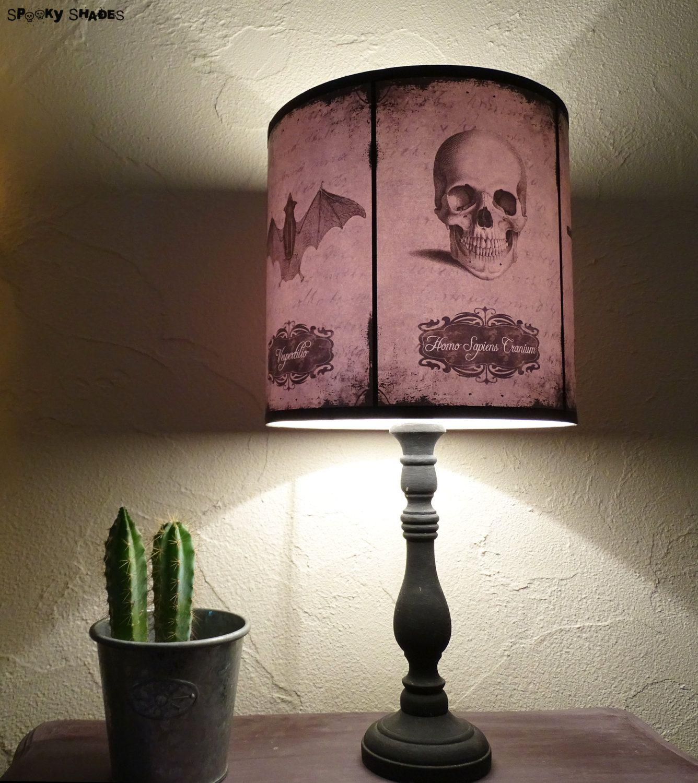 Halloween curiosities lamp shade lampshade skull lamp cabinet of halloween curiosities lamp shade lampshade skull lamp cabinet of curiosities gothic lamp halloween decor raven aloadofball Image collections