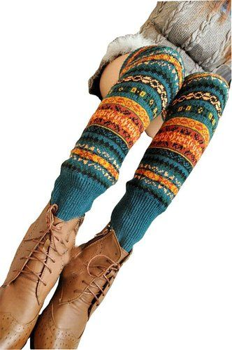 Amazon.com: Springwell Women's Cable Knit Leg Warmers in Multiple Style and Colors (Standard Size, Bohemia-mid-blue): Clothing