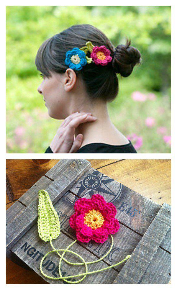 Hair Clip Free Crochet Patterns Crochet Crochet Crochet
