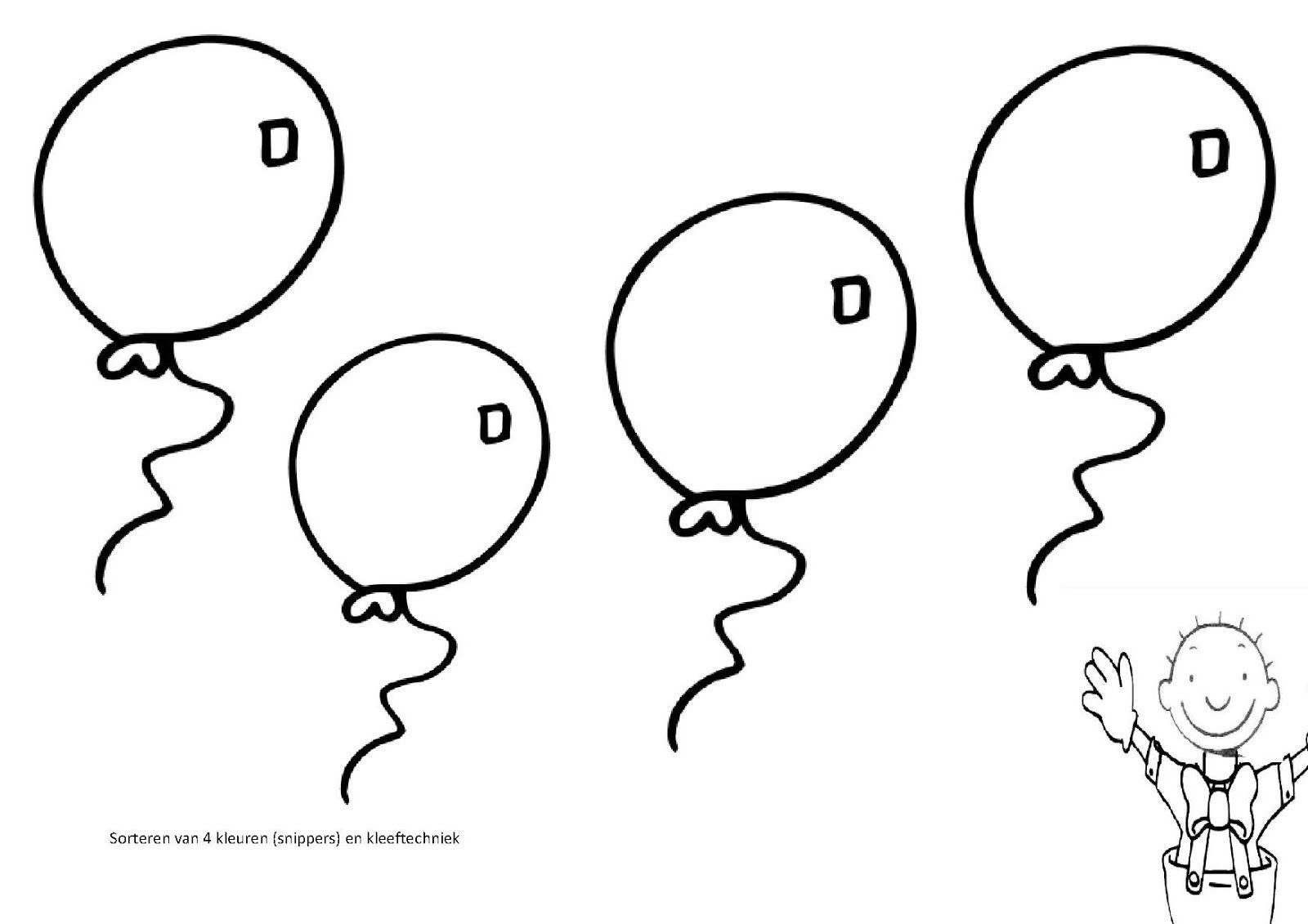 kleurplaat verjaardag ballon kleuren nu clown kleurplaat