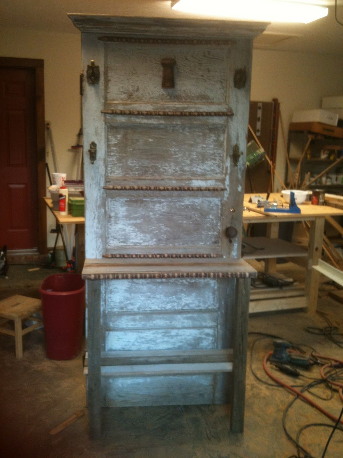 old wood door hall tree - Google Search   Repurposed Windows ...