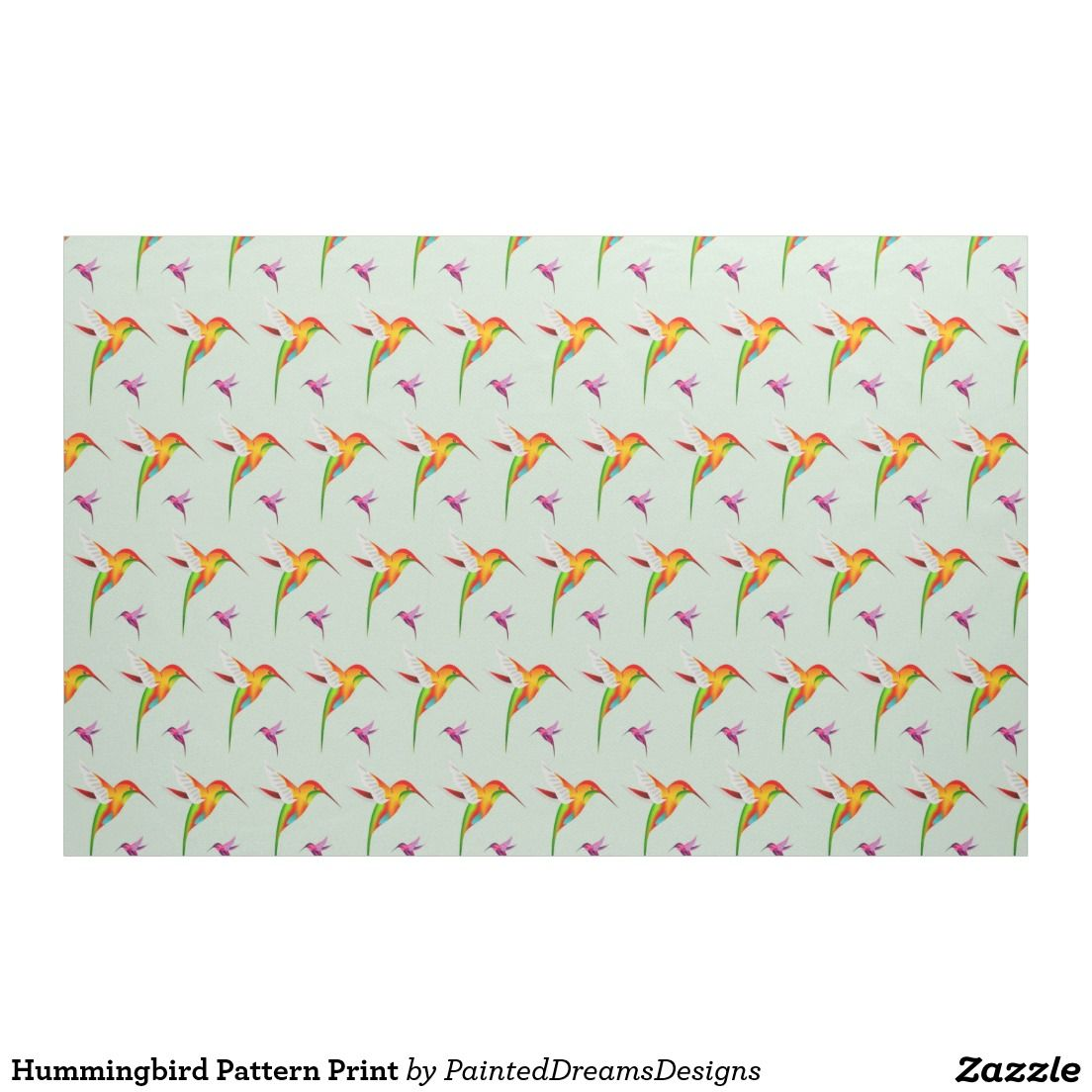 Hummingbird pattern print fabric custom print fabrics pinterest