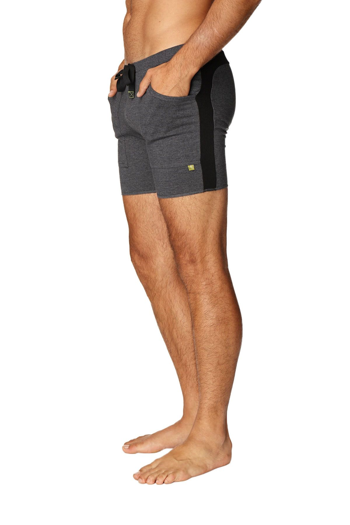 d369e5db4d0353 Transition Yoga Short (Charcoal w/Black) | Men's Athletic Wear ...