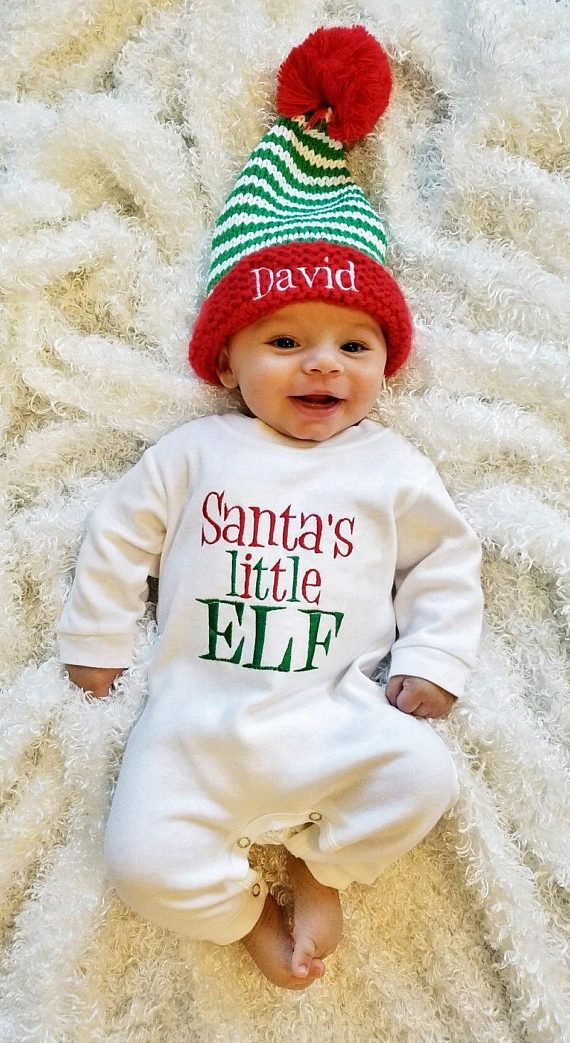 Baby Boy Christmas Outfit Personalized Baby Boy Romper Baby Boy ...