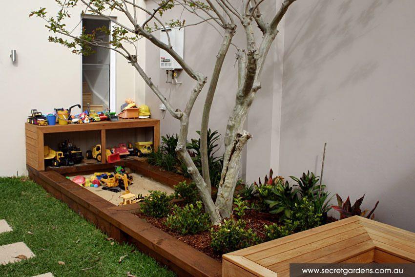 cool built in sandpit playspace i kids pinterest garten garten spielplatz und sandkasten. Black Bedroom Furniture Sets. Home Design Ideas