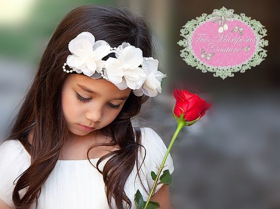 Gorgeous Ivory Organza and Silk Flower by TresMariposasCouture, $15.95