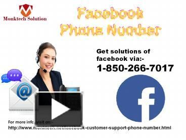 Can I call at Facebook Phone number to avail on the spot technical-aid? 1-850-266-7017