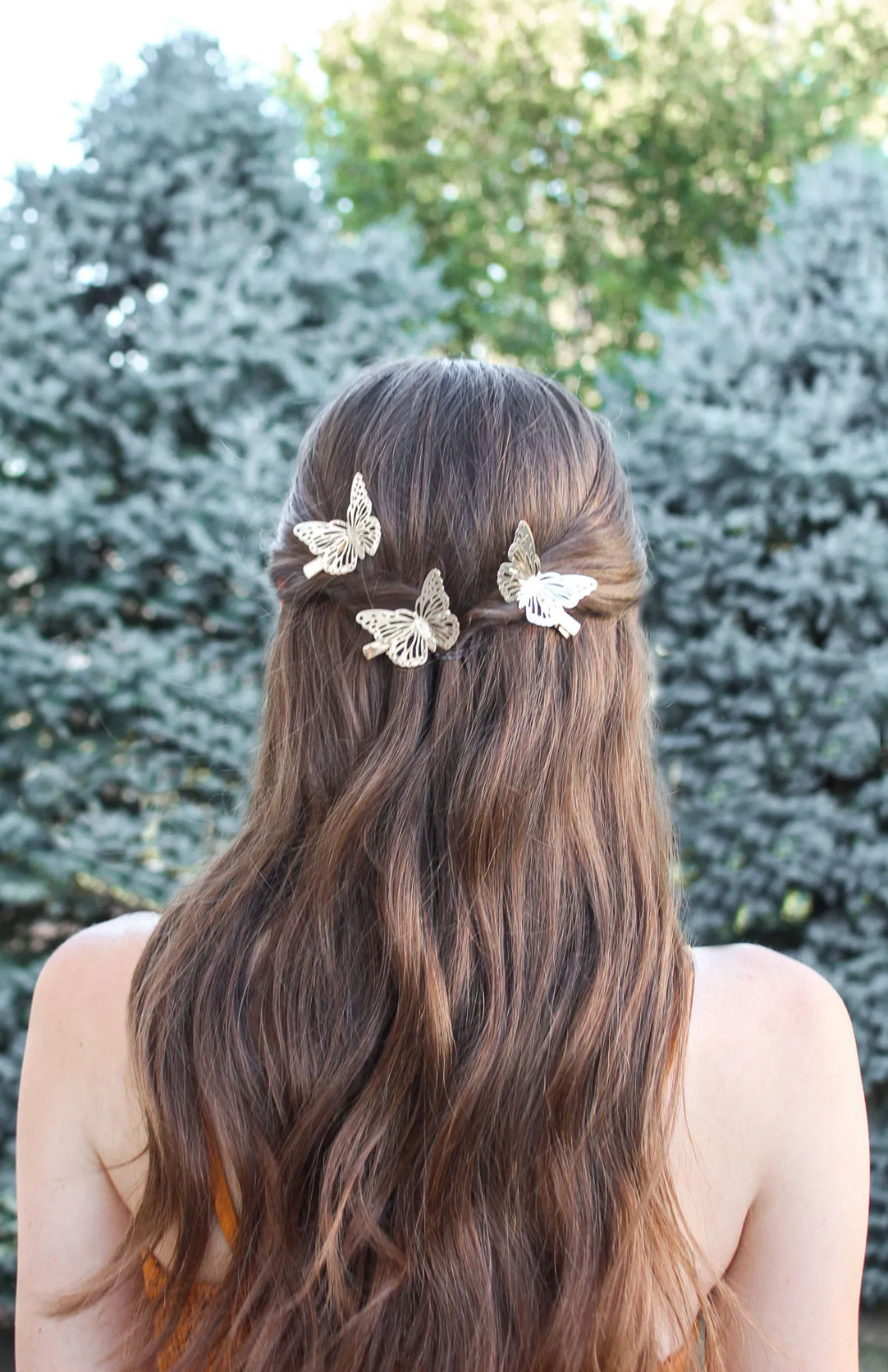 Gold Butterfly Hair Clips Butterfly Hair Accessories Butterfly Hairstyle Butterfly Hair