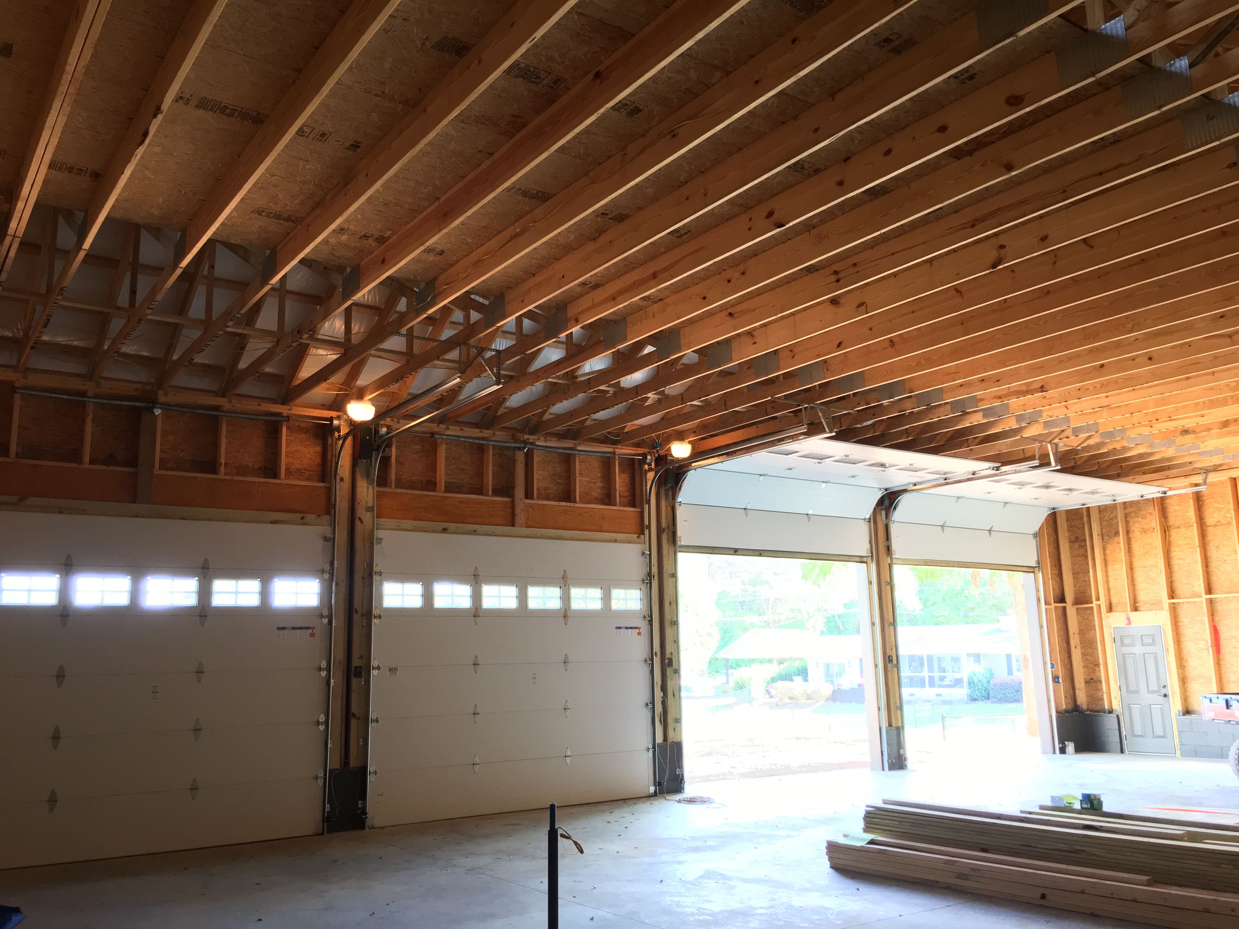 Clopay Garage Doors 12 Wide X 10 Tall With The Highlift Track And The Wall Mount Liftmaster Jackshaft Operator This Gives Maximum Liftmaster Home Interior