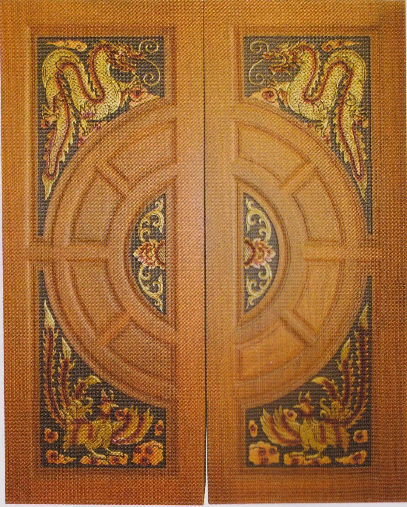 Modern custom carving solid teak wood interior exterior for Solid wood french doors