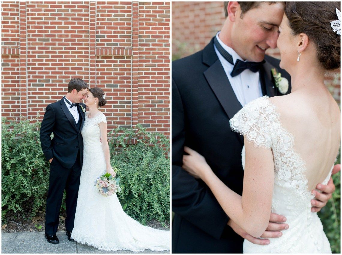 Black and blush wedding dress  Elegant and intimate wedding with black tux and floor length pink