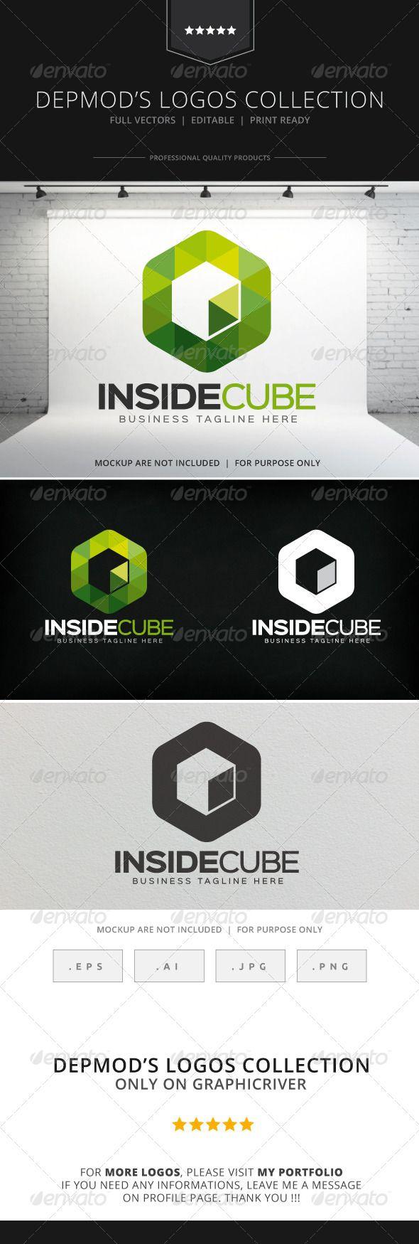Inside Cube Logo — Vector EPS #modern #investment • Available here → https://graphicriver.net/item/inside-cube-logo/8745415?ref=pxcr
