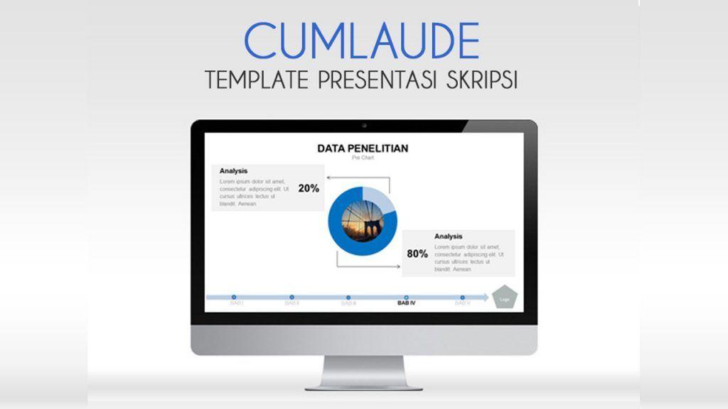 Template Powerpoint Presentasi Sidang Skripsi Pakar Presentasi Powerpoint Templates Electronic Products