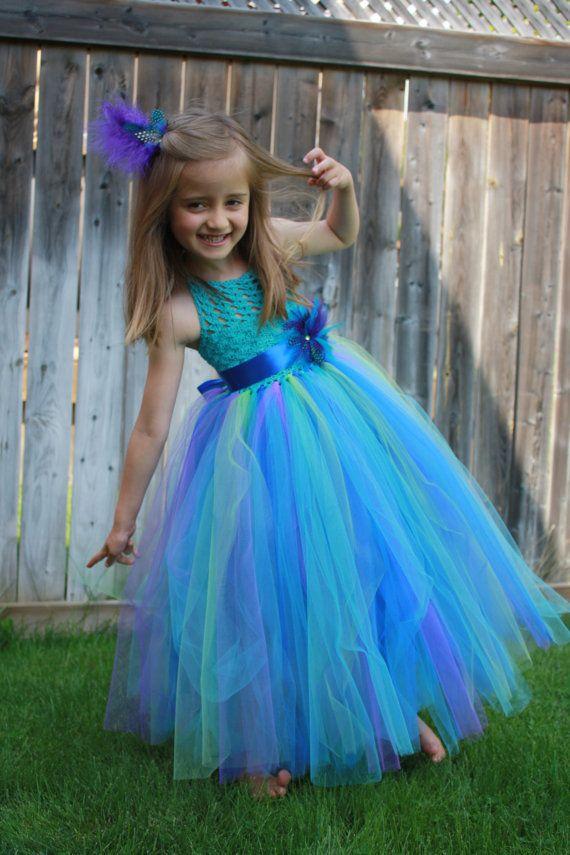 5ba96f388233 Tutu Dress,Crochet Tutu Dress,Peacock Tutu Dress,Flower Girl Dress,Turquoise  Tutu Dress,Toddler Tutu Dress,Girl Christening Dress,Prom Dress