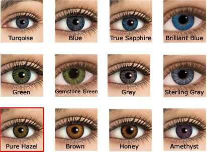 12 freshlook colorblend contact colors colored contactslensescolors - Colored Contacts Hazel
