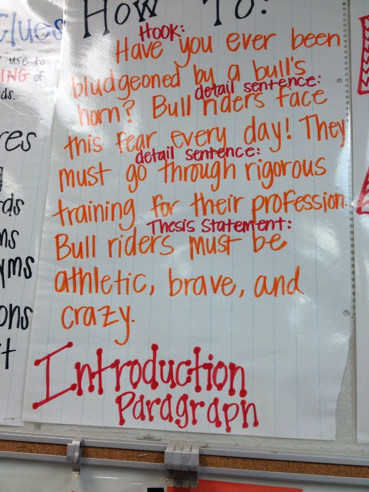 introduction paragraph anchor chart