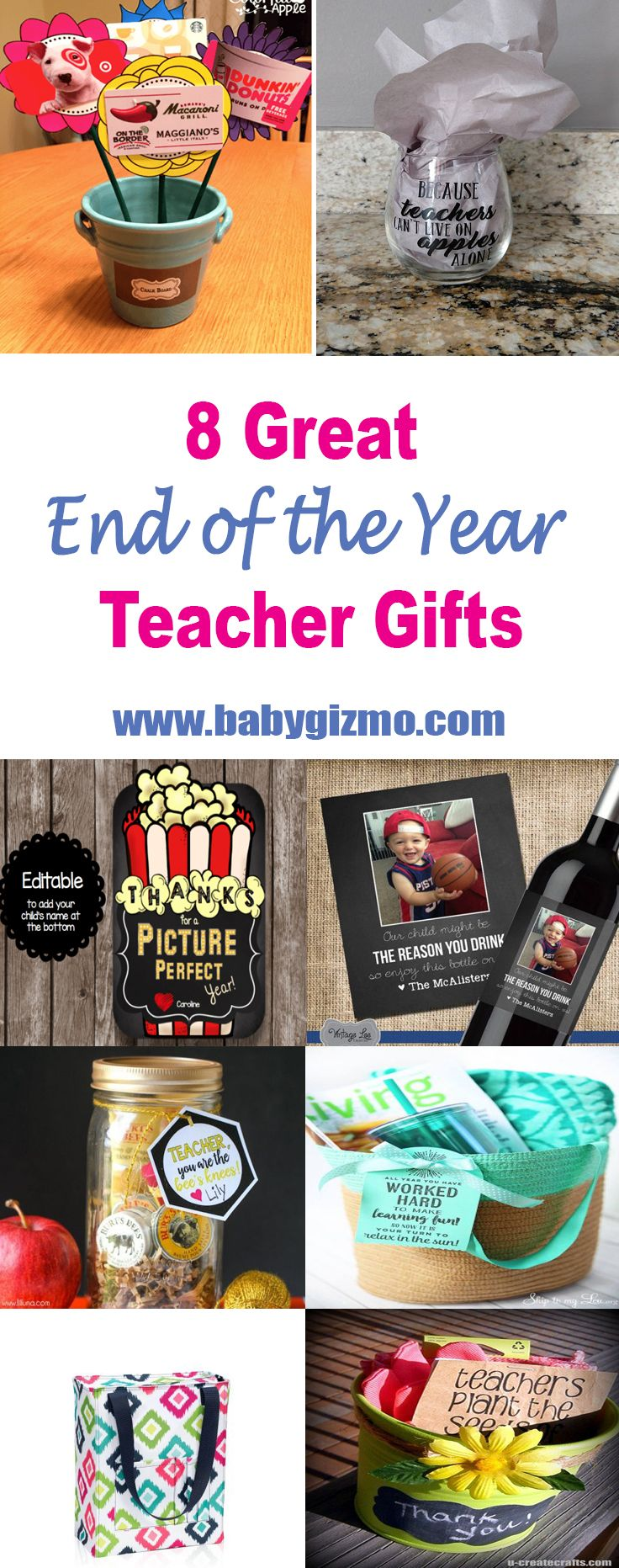 8 Great End of the Year Teacher Gifts! #TeacherGifts #BabyGizmo