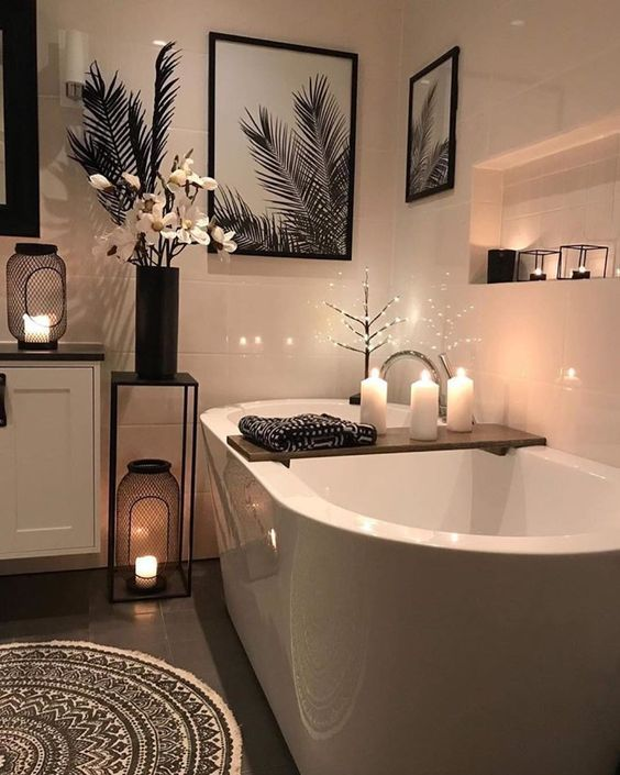 These Bathroom Decor Ideas Incorporate A Variety Of Themes With Unique Ways To Weave Utility And Design Together To Create Cheap Home Decor Home House Interior