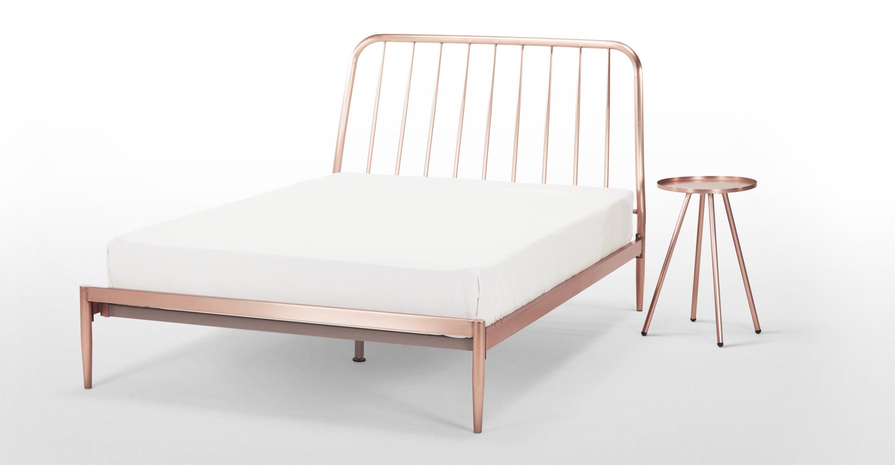 Alana Double Bed, Copper