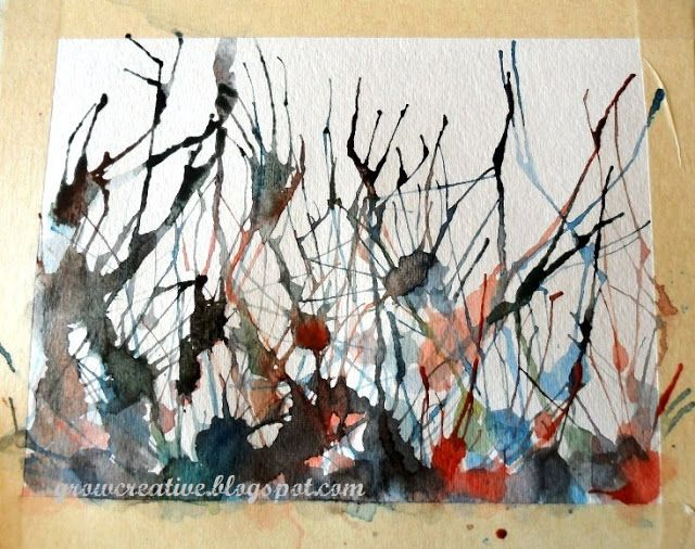Make Fun And Easy Abstract Watercolor Paintings By Blowing Paint With A Straw