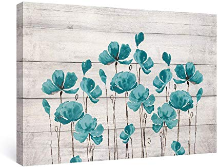 SUMGAR Flower Wall Art Contemporary Plants Canvas Prints White Grey Paintings Floral Pictures Artwork Home Decor Stretched and Framed for Bedroom Bathroom Ready to Hang 30 x 40 cm 3 Panels