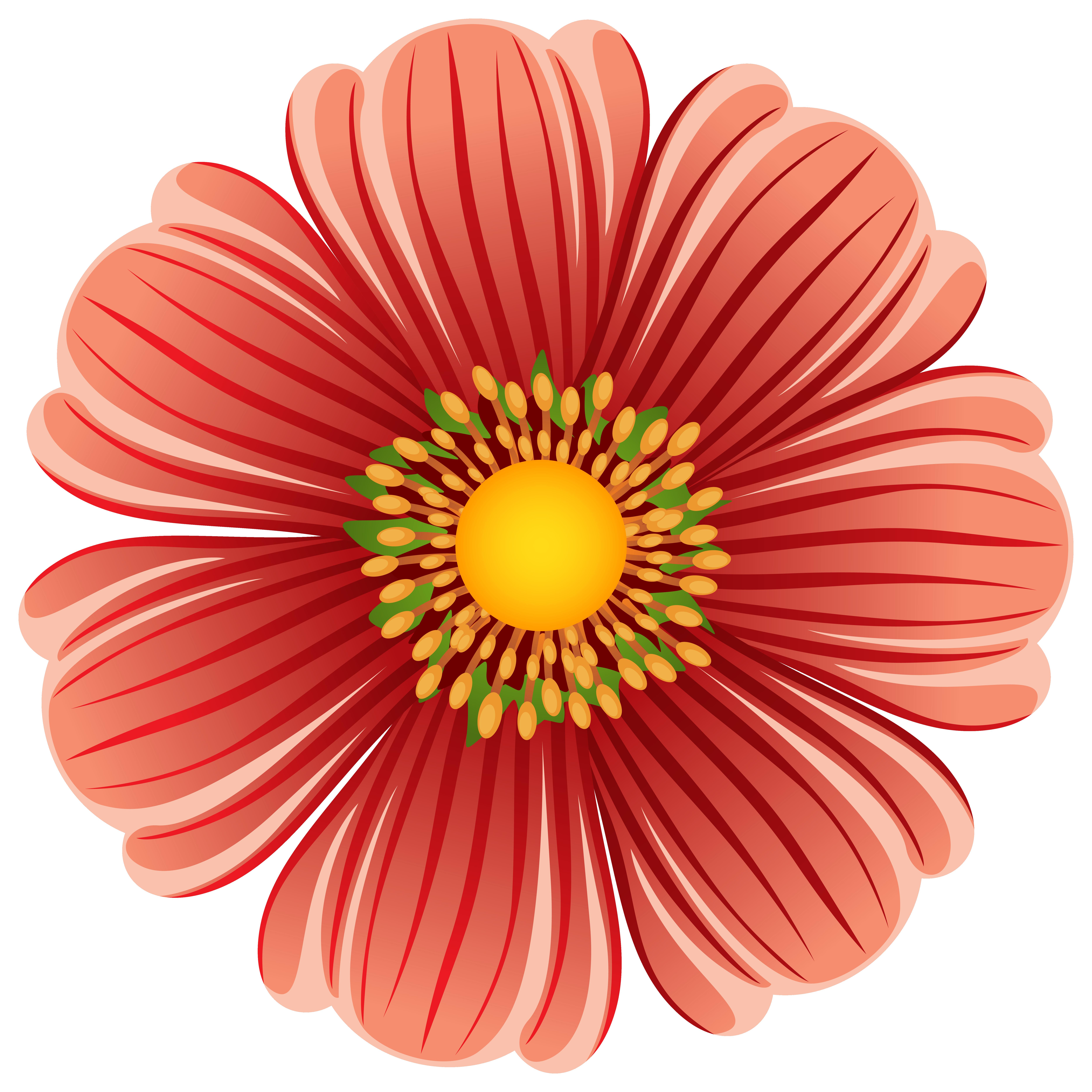 Large Flower Transparent PNG Clip Art Image · View full