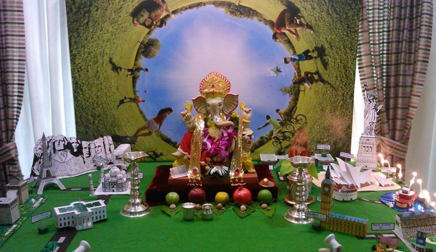 Decoration Ideas At Home For Ganpati Ganpati Decoration Ideas Pinterest Decoration