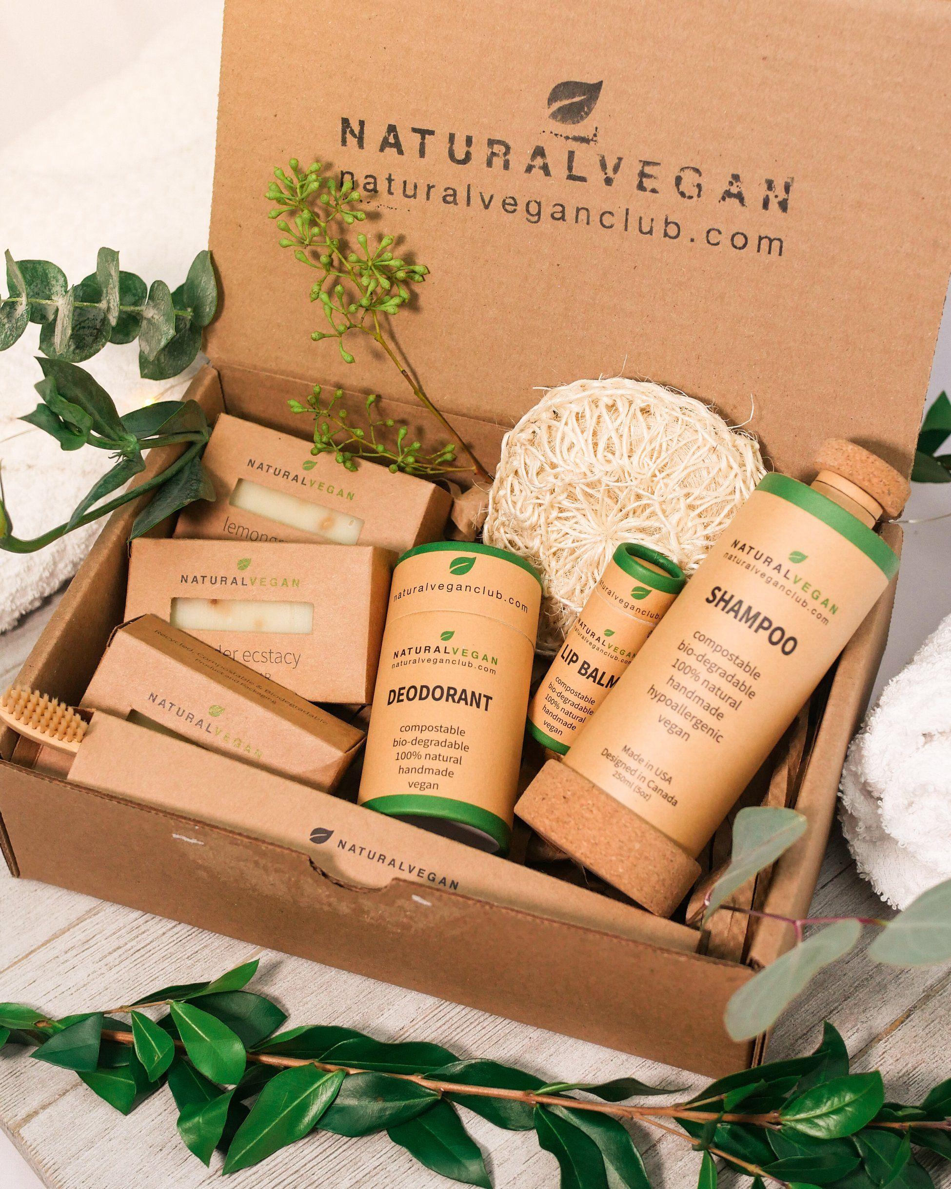 Natural Vegan Products Natural beauty products packaging