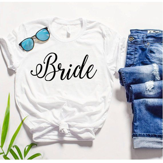 Bride Tshirt I Said Yes Wifey Shirt Just Married Shirts Gift For Wife Engagement Honeymoon By Gndycollection