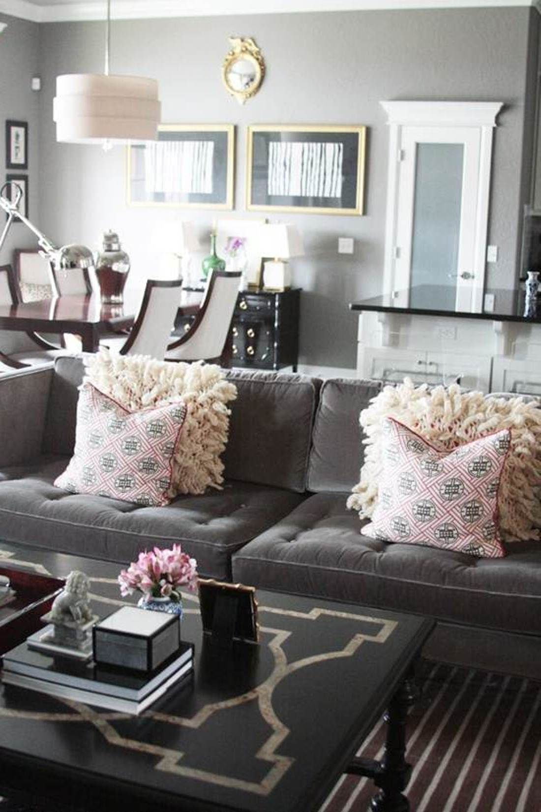 Pink And Grey Living Room Ideas