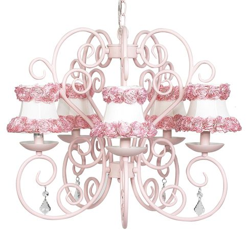 Shades Pink Chandelier, Pink And White Chandelier Lamp Shades