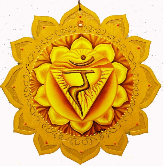 3rd Chakra, Manipura chakra, Solar Plexus, Yellow plaque, healing plaque, lotus plaque, wood plaque, meditation art,  Healing art.