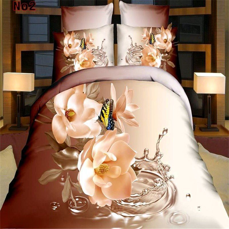 Home textile 3D Bedding Sets Queen Size 4Pcs of Duvet Cover Bed Sheet Pillowcase,Free shipping,