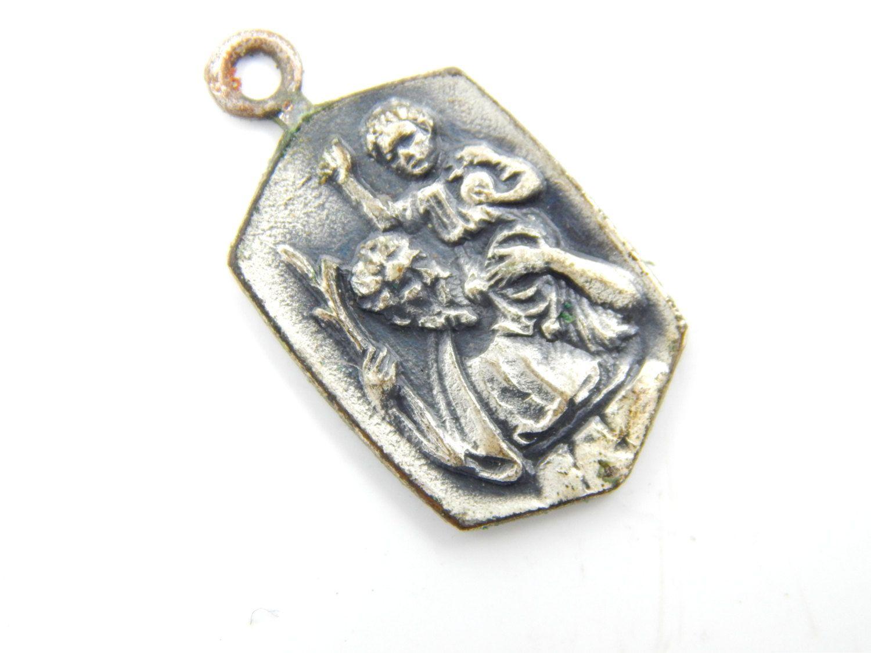 Vintage Saint Christopher Catholic Medal - Safe Travel