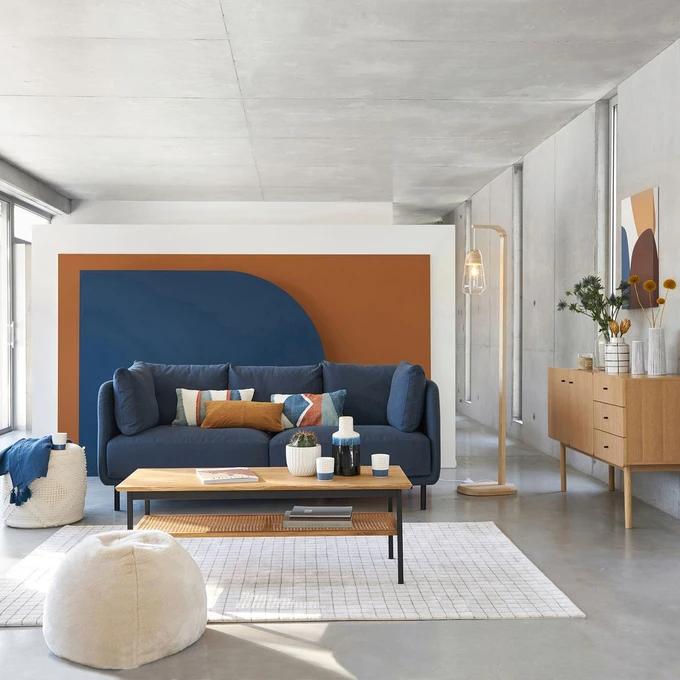 Canape Coton Et Lin Victor Meuble Deco Table Basse Chene Deco Maison Design