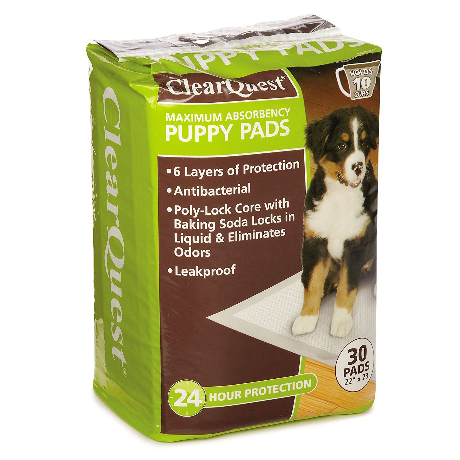 Clearquest Maximum Absorbency Puppy Pads Anti Microbial Hold 10