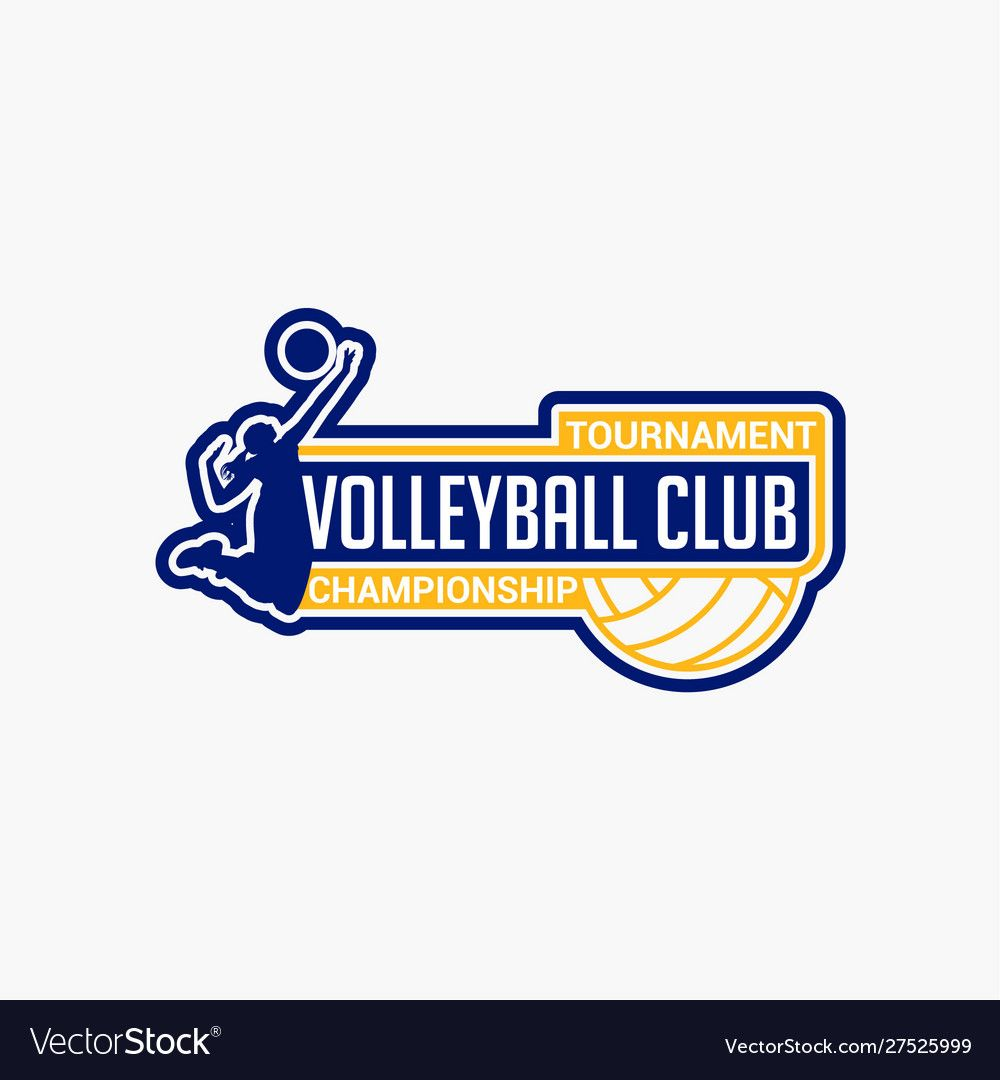Volleyball Club Badge Logo 10 Royalty Free Vector Image Ad Badge Logo Volleyball Club Ad Fish Logo Volleyball Silhouette Cricket Logo