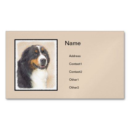 #Bernese Mountain Dog 2 Magnetic Business Card - #bernese #mountain #dog #puppy #dog #dogs #pet #pets #cute #bernesemountaindog