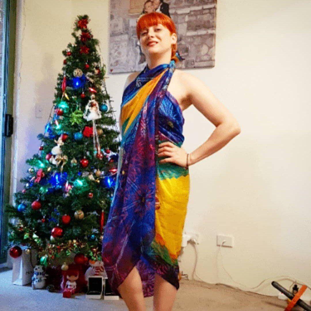 Macaw Tropical Festival Scarf, Women Gift, Bird Scarf, Boho vest & shawl, versatile over dress kaftan, bandana, turban, bright sarong -   15 dress Silk christmas gifts ideas