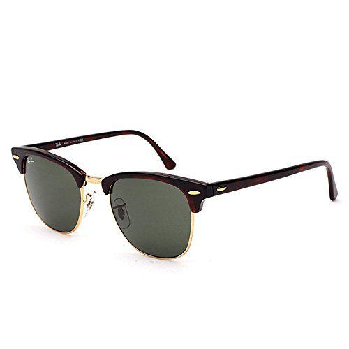 8cdef705f093c7 Ray-Ban Clubmaster Metallic RB 3016 Wayfarer Sunglasses, Brown (Braun RB  3016 W0366)   The Sterling Silver Com
