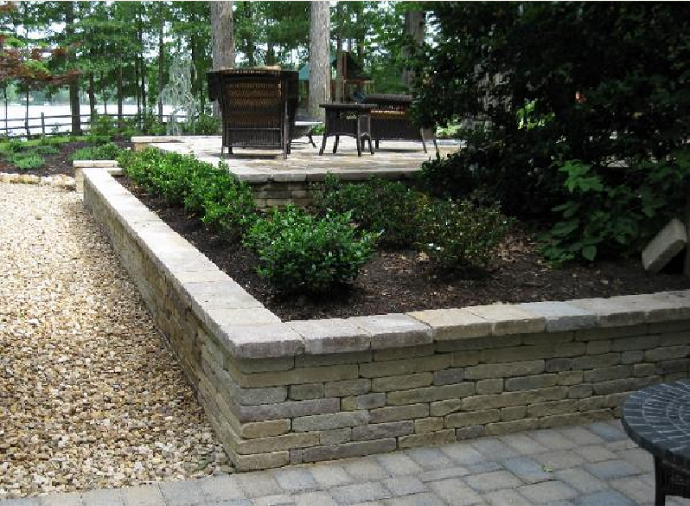 Retaining And Sitting Walls Designed By And Installed By Cross Creek  Landscaping In Richmond Va.