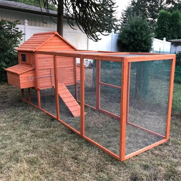 ALEKO 2 Story Wooden Chicken Coop