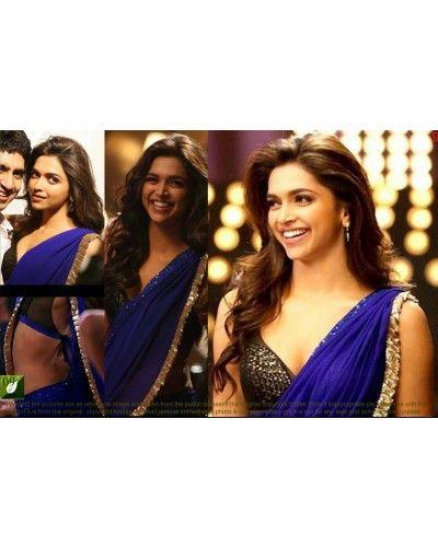 Royal Blue Georgette Saree | Bollywood designer sarees ...