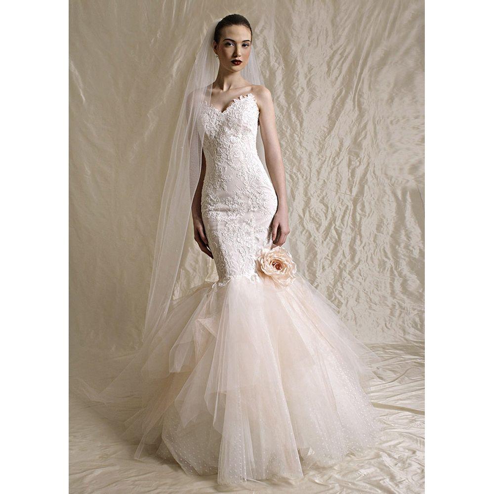 Mermaid Wedding Dresses with Tulle Bottom