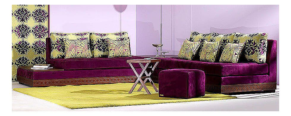 Salon Marocain Dakhla Haut Prune Nice modern model. Of ...