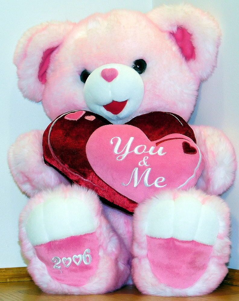 Dandee 2006 Pink Sweetheart Teddy Bear With Images Pink Teddy