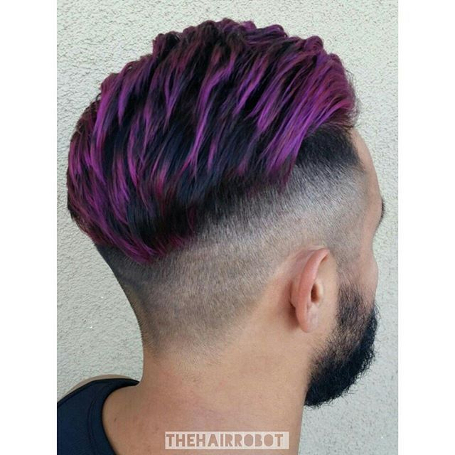 Image Result For Mens Purple Highlights Mens Hair Colour
